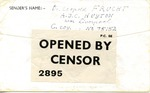 Unstamped Censored Envelope To A.J.C. Huyton Internment Camp for Jewish Refugees