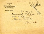 Envelope Addressed to Mademoiselle Lifschitz in Paris, France