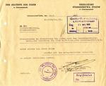 Litzmannstadt Ghetto Notice Signed by Chaim Rumkowski