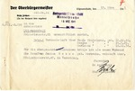 Adoption Request from Litzmannstadt Ghetto