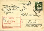 Postcard from Prisoner in Ghetto in Krynica, Poland