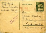 Postcard Sent to Radom Ghetto