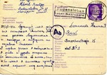 Postcard from Prisoner in Neuruppin, Germany Slave Labor Camp