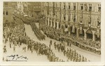 Postcard of Nazis Marching into Reichenberg, Sudetenland
