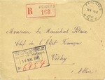 Envelope Addressed to Marshal Petain