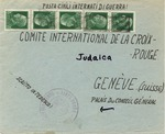 Envelope from Ferramonti di Tarsia Concentration Camp to Red Cross in Switzerland