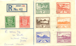 Envelope from Jersey, Channel Islands, with Occupation Stamps