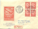 Envelope Commemorating 25 Years of Danish Aviation