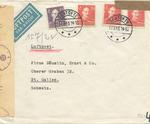 Wehrmacht Censored Envelope from Denmark to Switzerland