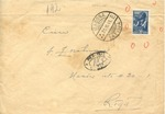 Envelope from Madona to Riga, Latvia with Unrecognized Russian stamp