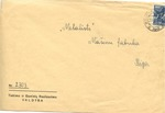 Envelope from Kaunas to Riga with Russian Stamp
