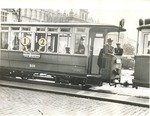Streetcar in Krakau with Sections for Jews and Non-Jews