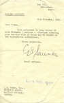 Correspondence with Undercover Address Bletchley Park to L.J. Cohen