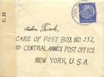 Censored Envelope from Germany to Undercover Address in New York