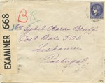 Censored Envelope from France to Undercover Address in Portugal