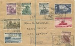 Polish Government in Exile Stamp on Censored Envelope Sent from Polish Naval Agency 12 from Destroyer 'Burza'