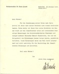 Letter from Hans Frank to Mein Fuhrer (Adolph Hitler)