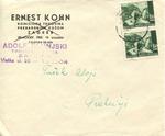 Correspondence from Ernest Kohn/Adolf Slunjski in Zagreb, Croatia