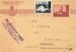 Postcard from Zagreb to Berlin
