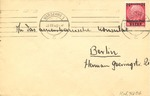 Envelope from Warsaw during German Occupation to American Consul in Berlin