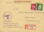 Envelope from Ukraine to Ministry of the Occupied Eastern Territories in Berlin