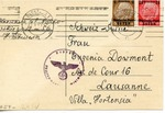 Undercover Postcard Sent to Villa Hortensia, Lausanne, Switzerland, from Warsaw