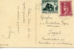 Postcard to Zagreb, Croatia, with Ante Pavelic and War Relief Stamps