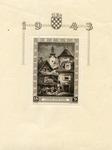 Croatian Souvenir Stamp - N.D.H. Philatelic Exhibition.