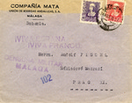 Envelope Sent During Spanish Civil War from Malaga, Spain, to Germany