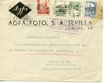 Envelope Sent from Agfa-Foto in Sevilla, Spain, During Spanish Civil War to I.G. Farben in Berlin, Germany