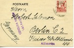 Censored Spanish Civil War Postcard, From Las Palmas with German Message