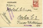 Censored Spanish Civil War Postcard, From Las Palmas with German Message