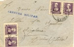 Envelope Sent by International Brigade in Lerida to Italy
