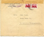 International Brigades Censored Envelope from Valencia to Czechoslovakia