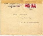 International Brigades Censored Envelope from Valencia to Czechoslovakia