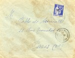 Envelope from Argeles sur Mer Camp with Franchise Stamp