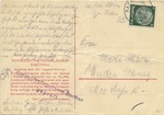 Rare Early Dachau Postcard From Inmate Otto Marx