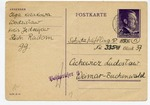 Postcard to Buchenwald Concentration Camp