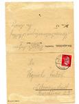 Censored Formulary Letter from Prisoner at Stutthof Concentration Camp