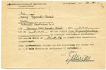 Mauthausen Death Notice