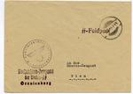 Waffen SS Feldpost Sachsenhausen-Oranienburg Concentration Camp