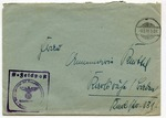 Feldpost of SS Officer at Orienburg with Handstamp of Inspector of Concentration Camps of the Reichsfuehrer SS