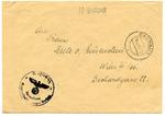 Dachau Concentration Camp Waffen SS Unterscharfuehrer Envelope