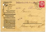 Envelope from Oranienburg Concentration Camp