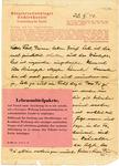 Sachsenhausen-Orienburg Concentration Camp Letter