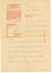 Letter from Flossenburg Concentration Camp