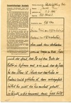 Letter from Prisoner 562 at Auschwitz Concentration Camp