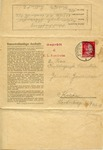 Censored Letter from Auschwitz to Krakau