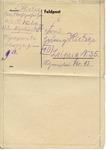 Feldpost Letter from Auschwitz III Monowitz