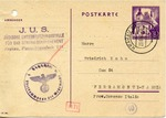Postcard to Man Interned at Ferramonti-Tarsia Concentration Camp